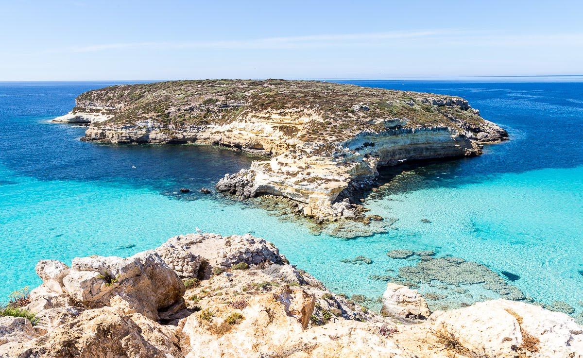 isola dei conigli lampedusa sicilia