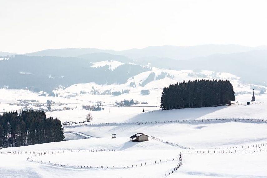 vista di asiago in inverno