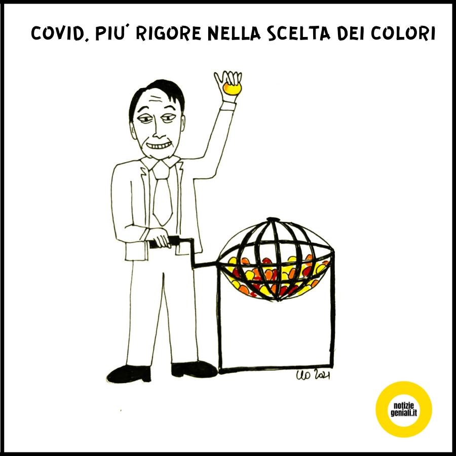 Covid - Governo Conte e colori regioni