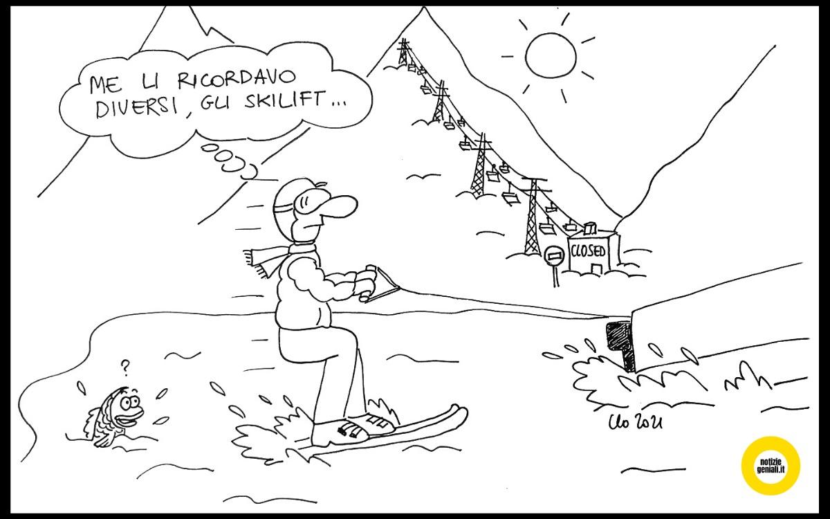 Piste da sci chiuse, ma in montagna si scia lo stesso