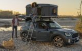 in tenda sul tetto dell'auto