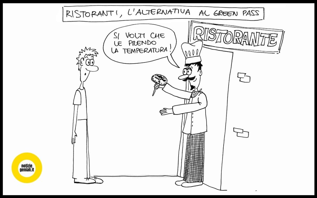 vignetta su ristoranti e green pass