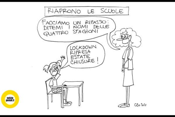 vignetta su riapertura scuole